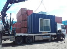 Sleep-out delivery by hiab truck