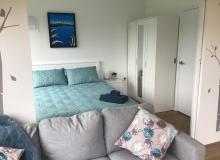 Sliding doors can open up living & bedroom area
